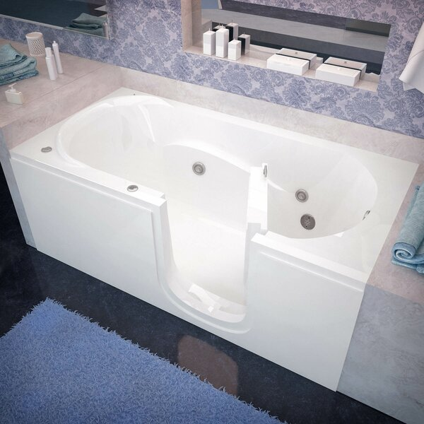 Stream 60 x 30 Whirlpool Jetted Bathtub by Therapeutic Tubs