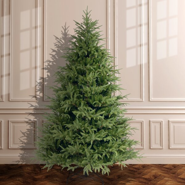 90 Green Fir Artificial Christmas Tree with Stand by Highland Dunes