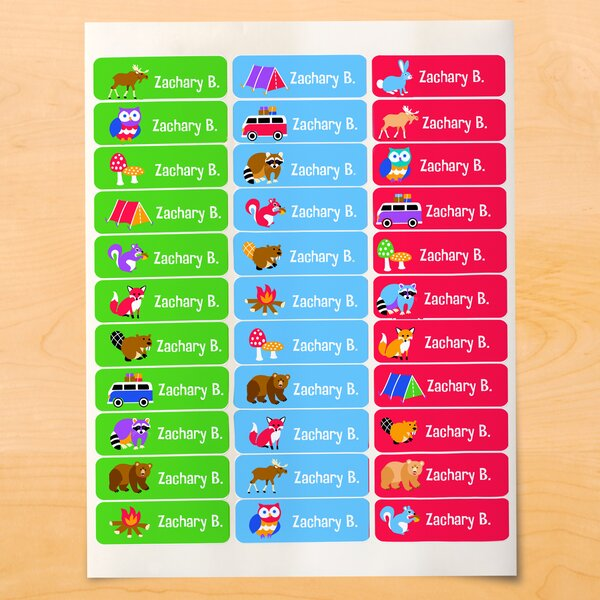 Kang Camping Trip Personalize Wall Sticker by Zoomie Kids