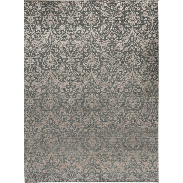 Brookhaven Oriental Hand-Knotted Light Green/Gray Area Rug