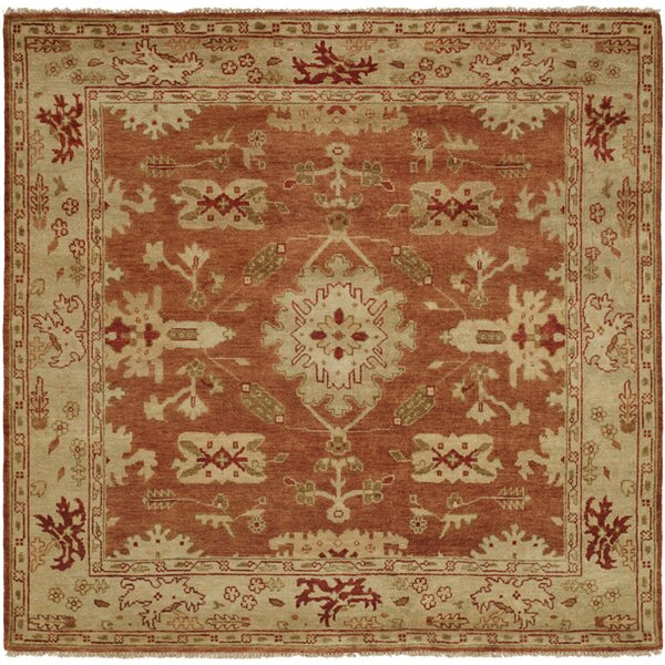 Longview Hand-Knotted Orange/Brown Area Rug by Wildon Home ®