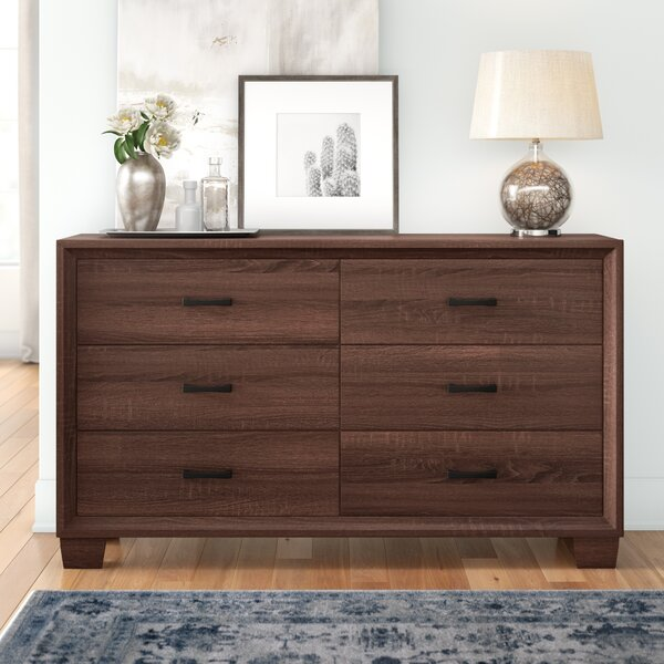 Casa 6 Drawer Double Dresser by Three Posts