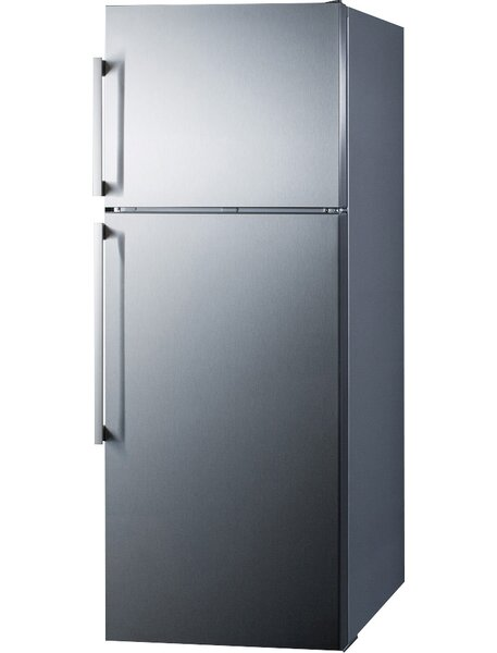 Summit Thin Line 12.6 cu. ft. Counter Depth Top Freezer Refrigerator with LED Lighting by Summit Appliance