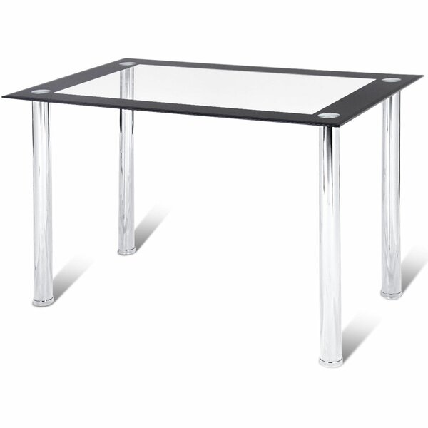 Abagail Kitchen Breakfast Tempered Glass Top Dining Table By Ebern Designs