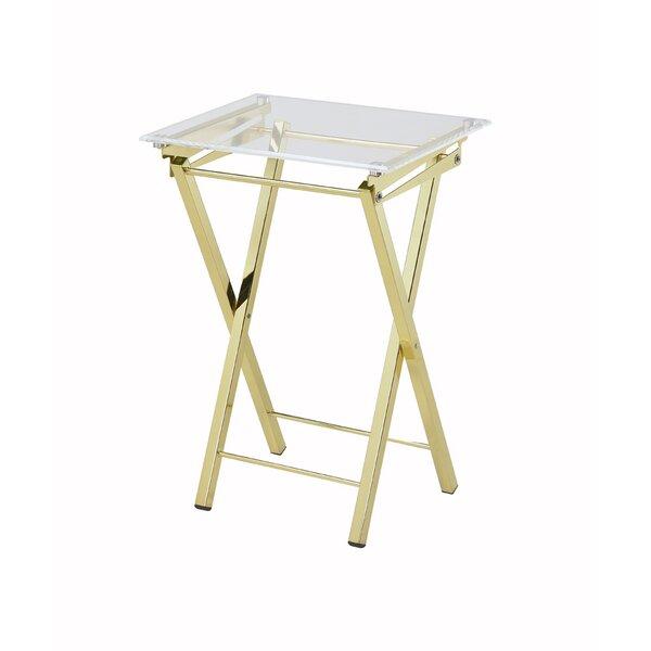 Alvar Contemporary Folding Tray Table (Set of 2) by Willa Arlo Interiors