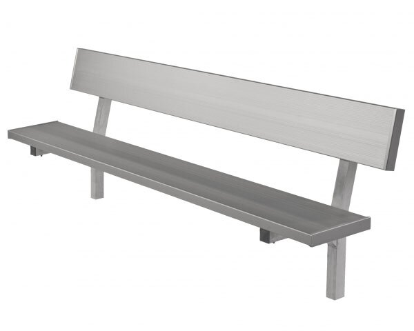 All Aluminum Bench with Back by Highland Products