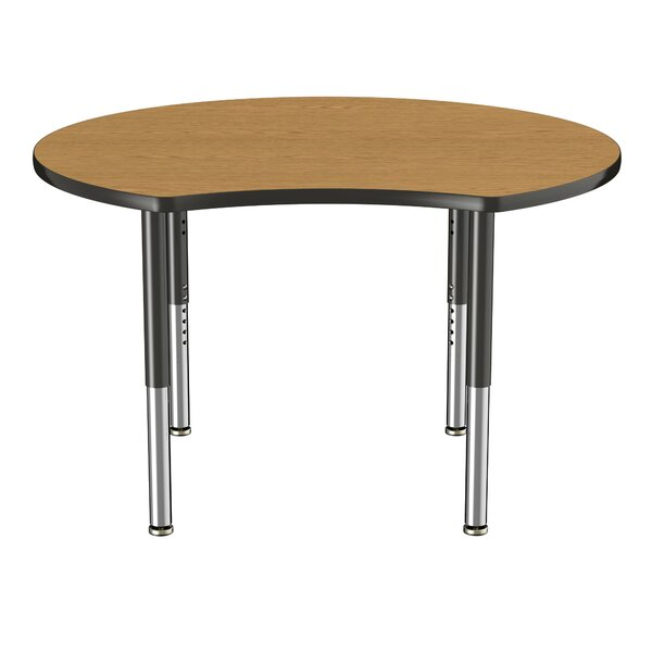 Crescent Thermo-Fused Adjustable 48 Circular Activity Table by ECR4kids