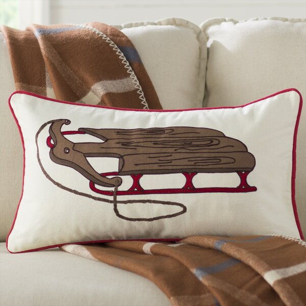 Wooden Sled Pillow Cover by Birch Lane™