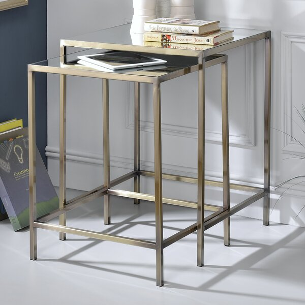 Danyel 2 Piece Nesting Table By Everly Quinn Today Sale Only