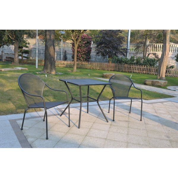 Harger 3 Piece Bistro Set by Orren Ellis