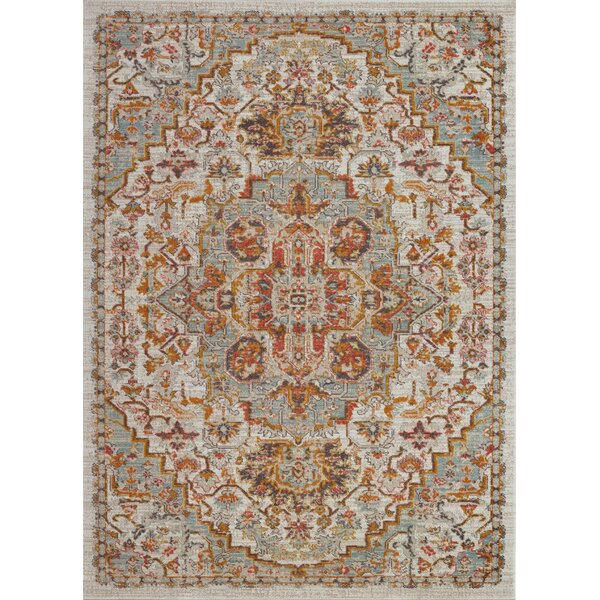 Hagen Cream/Beige Indoor/Outdoor Area Rug by Bungalow Rose