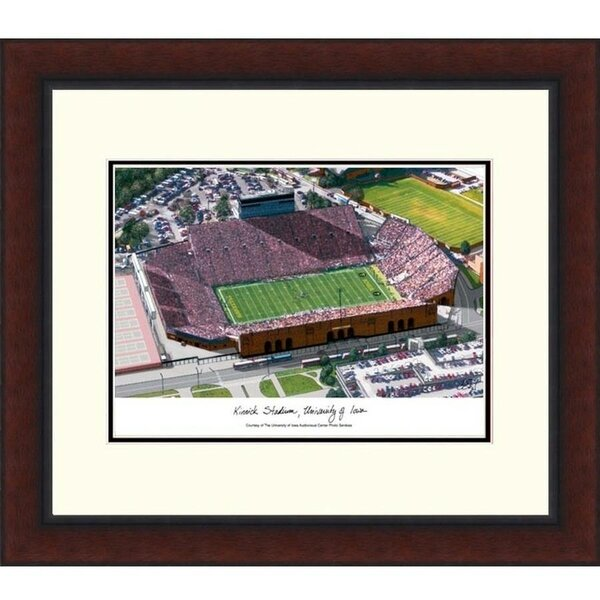 NCAA Iowa Hawkeyes: Kinnick Stadium Legacy Alumnus Lithograph Framed Photographic Print by Campus Images