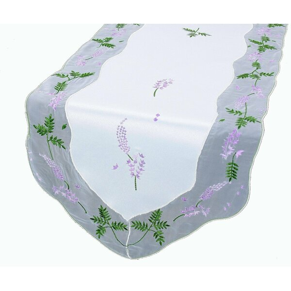 Lavender Embroidered Table Runner by Xia Home Fashions