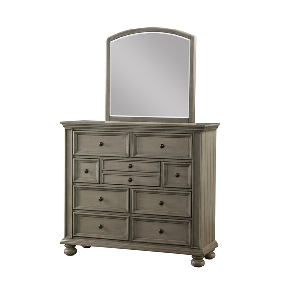 Lecia 9 Drawer Double Dresser with Mirror by Harriet Bee