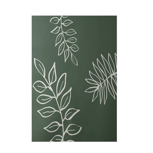 Floral Green Indoor/Outdoor Area Rug by e by design