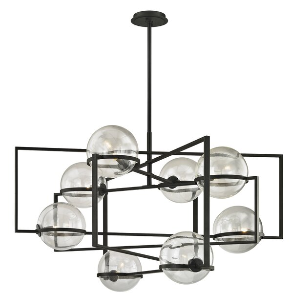Rolla 8 - Light Shaded Geometric Chandelier By 17 Stories