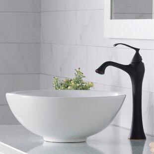 Looking for Bathroom Combos Ceramic Circular Vessel Bathroom Sink with Faucet By Kraus