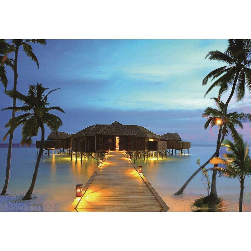 Northlight Led Lighted Tropical Paradise Island Beach Scene