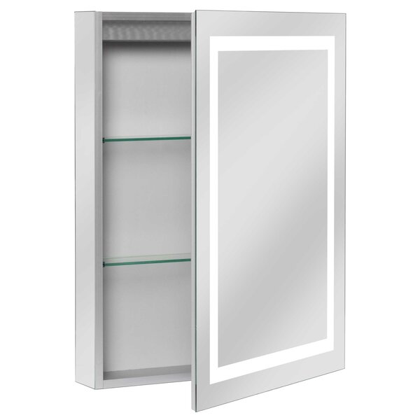 Ponticus 20 x 28 Recessed Medicine Cabinet with LED Lighting by Orren Ellis
