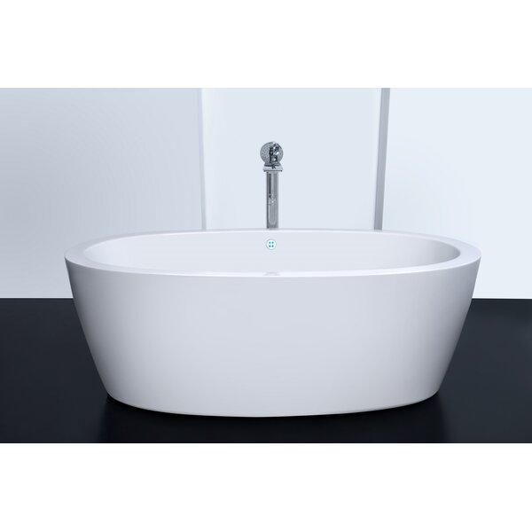 Purescape 63 x 30 Whirlpool Freestanding Bathtub by Aquatica