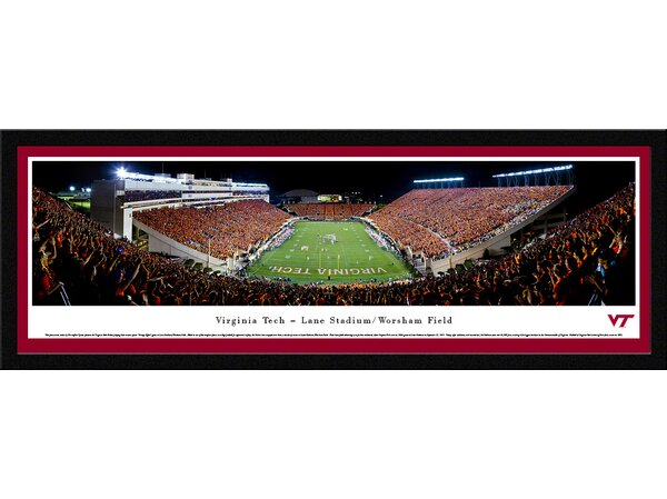NCAA Virginia Tech - Football - End Zone by Christopher Gjevre Framed Photographic Print by Blakeway Worldwide Panoramas, Inc