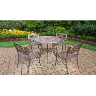 Thelma 5 Piece Metal Dining Set By Astoria Grand