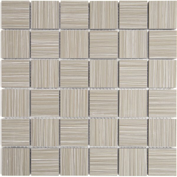 Fabrique 12 x 12 Ceramic Wood Look Tile in Gris Linen by Daltile