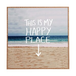 'Happy Place X Beach' Framed Photographic Print by East Urban Home