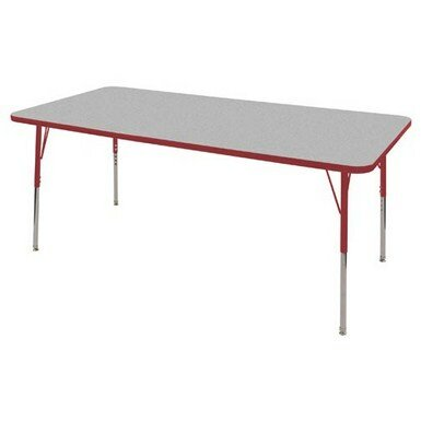 Thermo-Fused Adjustable 36 x 72 Rectangular Activity Table by ECR4kids