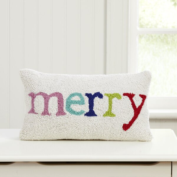 Merry & White Hooked Lumbar Pillow by Birch Lane Kids™