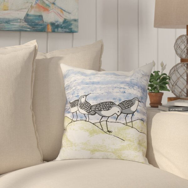 Boubacar Sandpipers Animal Print Throw Pillow by Highland Dunes
