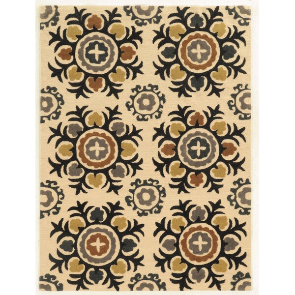 Askins Hand-Tufted Ivory Area Rug by Wrought Studio