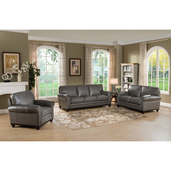 Stafford Leather Configurable Living Room Set by Westland and Birch