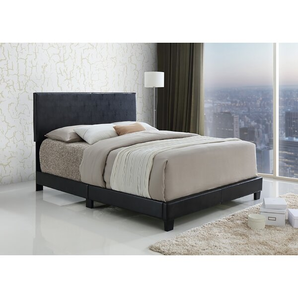 Sroka PU Upholstered Standard Bed by Ivy Bronx