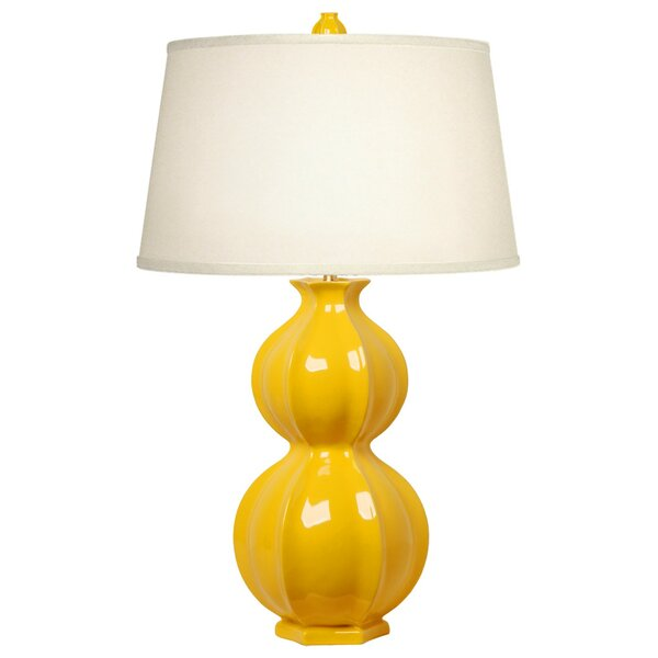 Dunton Double Gourd Pomegranate 33 Table Lamp by Corrigan Studio