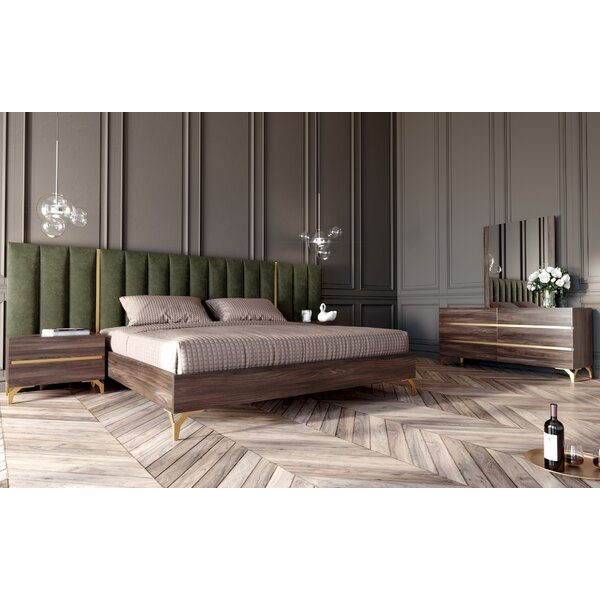 Josey Velvet Platform 5 Piece Bedroom Set by Brayden Studio