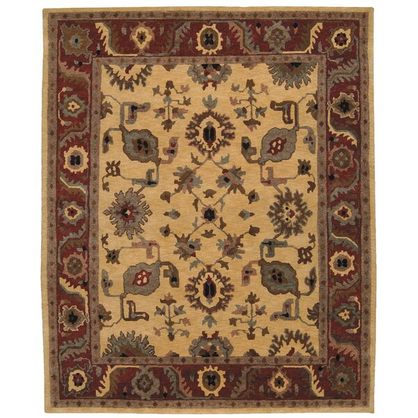 Bowen Hand-Knotted Gold Area Rug by Darby Home Co