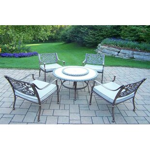 Stone Art 5 Piece Dining Set with Cushions ByOakland Living