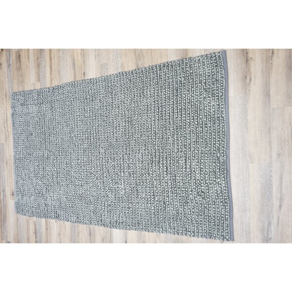 Alison Hand-Knotted Cotton/Polyester Gray Area Rug by World Menagerie