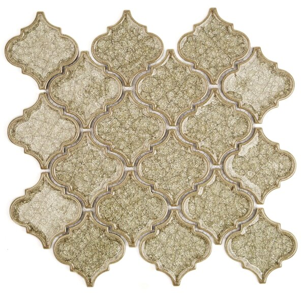 Roman Selection Glass Mosaic Tile in Iced Tan by Splashback Tile
