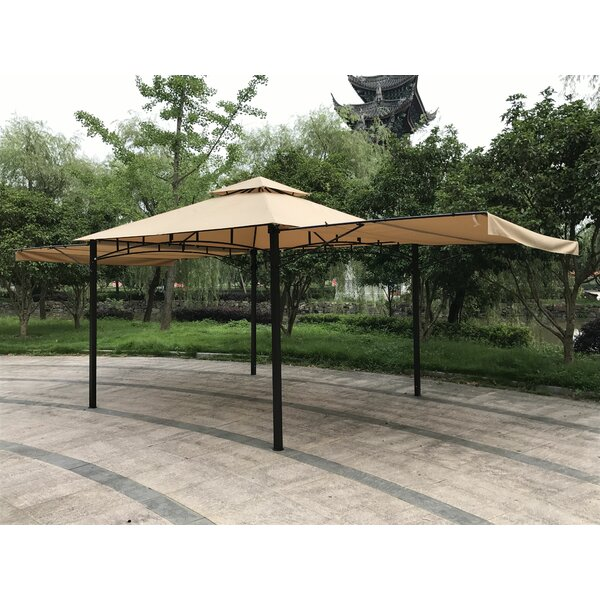 Double Roof 11 Ft. W x 11 Ft. D Steel Patio Gazebo by Jeco Inc.