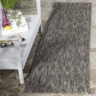 Top Reviews Lefferts Black Indoor/Outdoor Area Rug By Wrought Studio