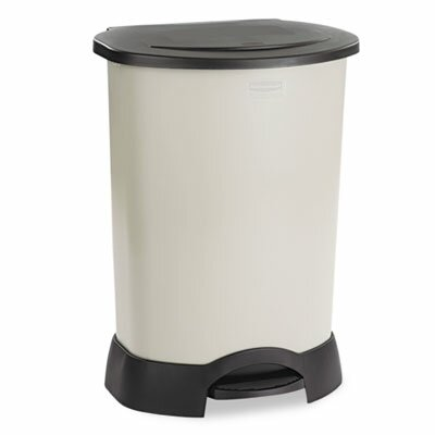 rubbermaid commercial products rubbermaid commercial container 30 gallon step on trash can. Black Bedroom Furniture Sets. Home Design Ideas
