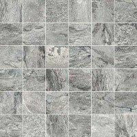 Dolomiti 2 x 2 Porcelain Mosaic Tile in Gray by Madrid Ceramics