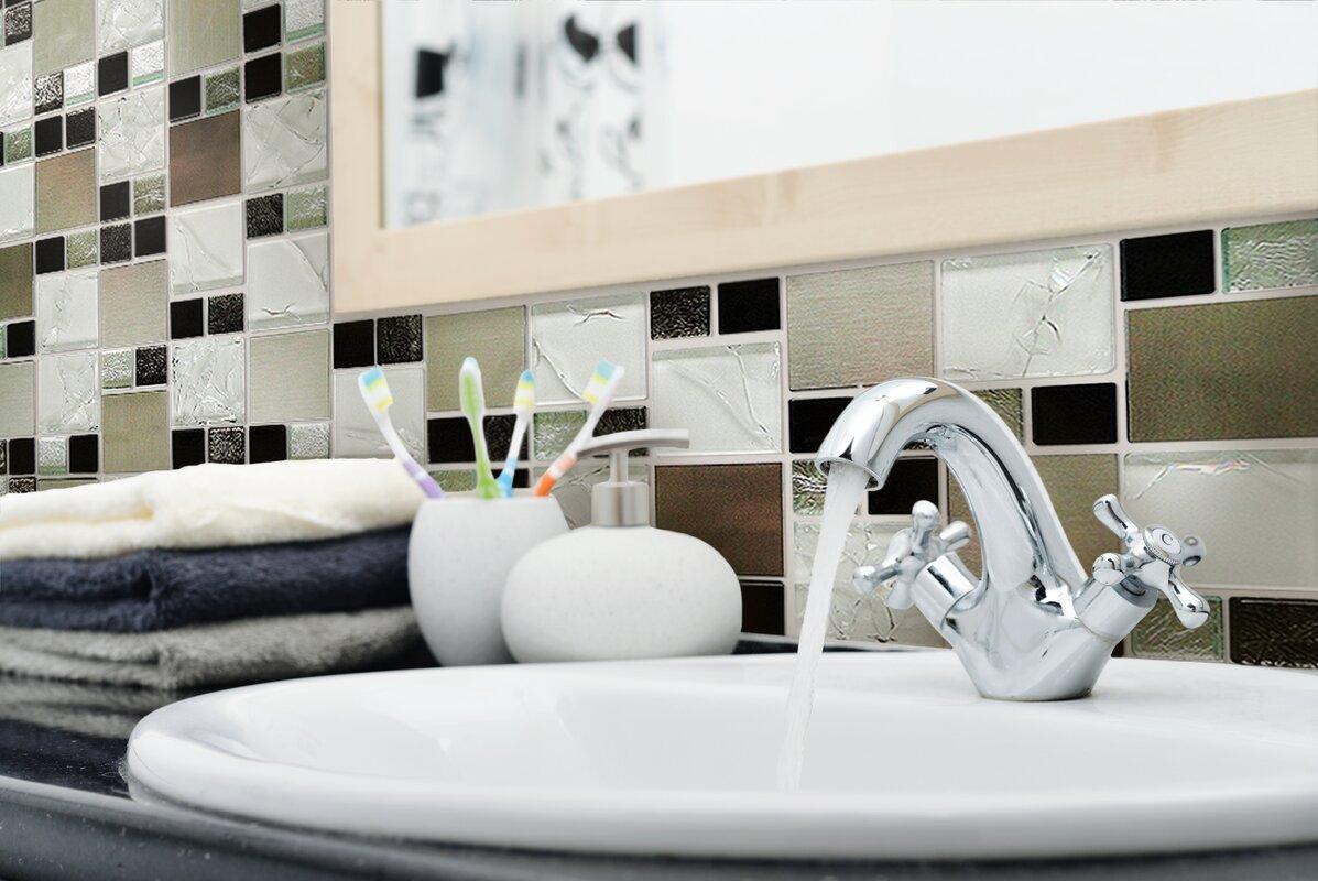 WS Tiles Twilight Series Random Sized Glass and Aluminum Mosaic Tile ...