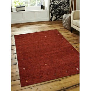 Matthews Hand-Woven Wool Red Area Rug by Bloomsbury Market