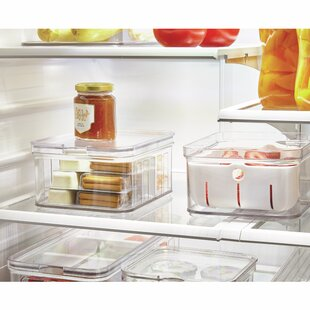Crisp Stackable Refrigerator and Pantry Produce Food Storage Container