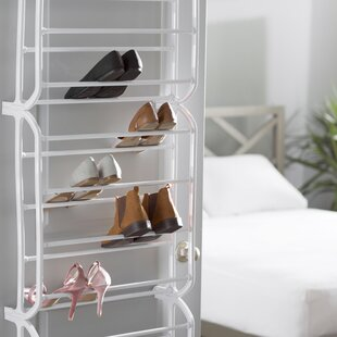 Affordable 12-Tier 36 Pair Overdoor Shoe Organizer By Rebrilliant