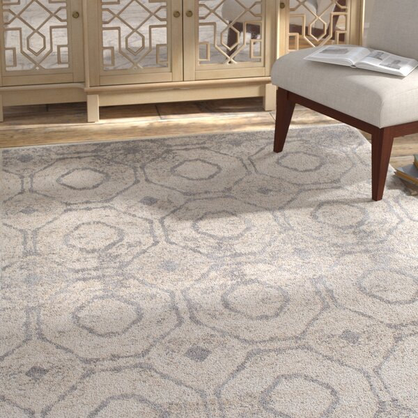 Nakamura Geometric Cream/Taupe Area Rug by Bloomsbury Market
