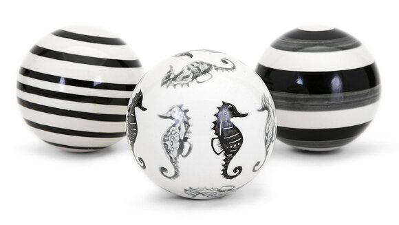 Tykeam 3 Piece Decorative Orb Set by Highland Dunes